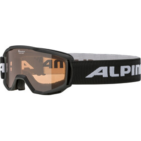 Alpina Piney Masque Enfant, black/orange